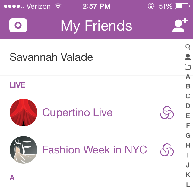 snapchat livestream NYFW and Cup