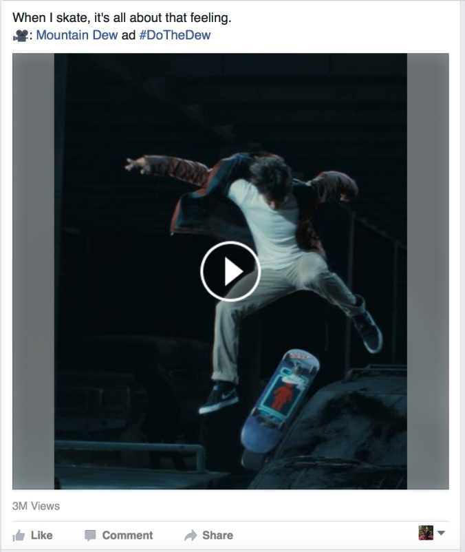 Sean Malto Facebook Page Video Screenshot